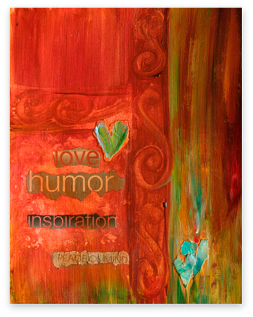 'Inspiration' ~ Collage Series by Debbie Marie