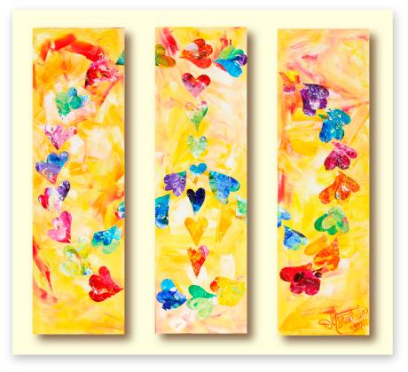 Peaces of a Dream by Debbie Marie Arambula www.theheartartist.com