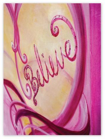 "Side view of beautiful ""Believe"""