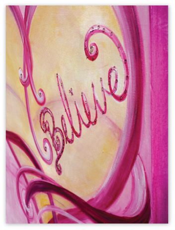 "Side view of beautiful ""Believe"""