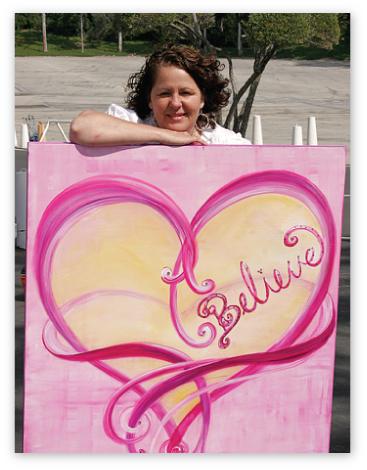 Debbie with 'Believe'