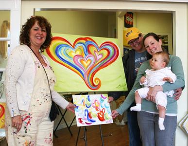 Happy Family Heart Portrait