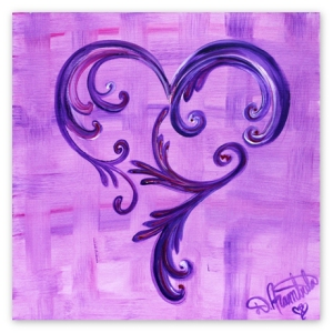 Purple Flore de lis painting