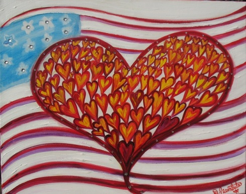 """Not Forgotten"" red, white and blue by Debbie Arambula"