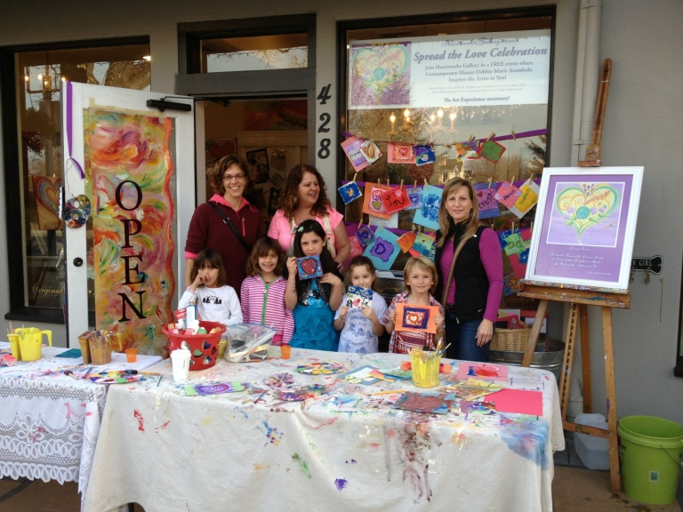 Feb 17th 2013 Spread the Love Campaign at Heartworks Gallery in downtown Campbell California