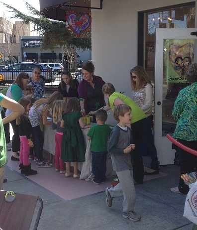 Spread the Love Art Workshop in Progress in Campbell California