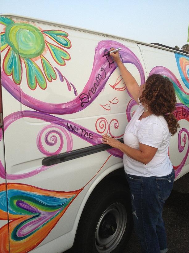 Debbie Painting 'Arty' in Ventura