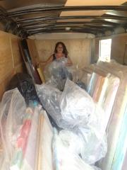 Reorganizing 16 foot art trailer