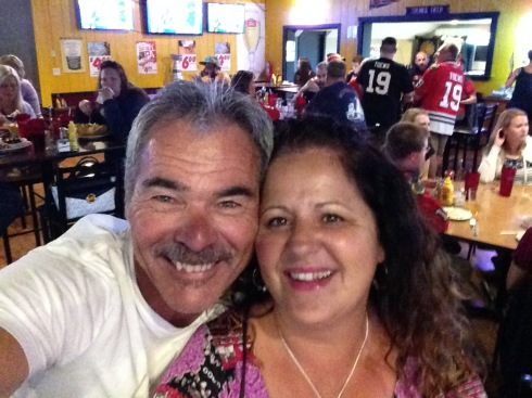 Debbie & Steve in Chicago watching the Black Hawks winning the Stanley Cup