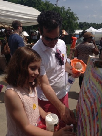 Father and Daughter at Gold Coast Fine ART Festival  in Chicago
