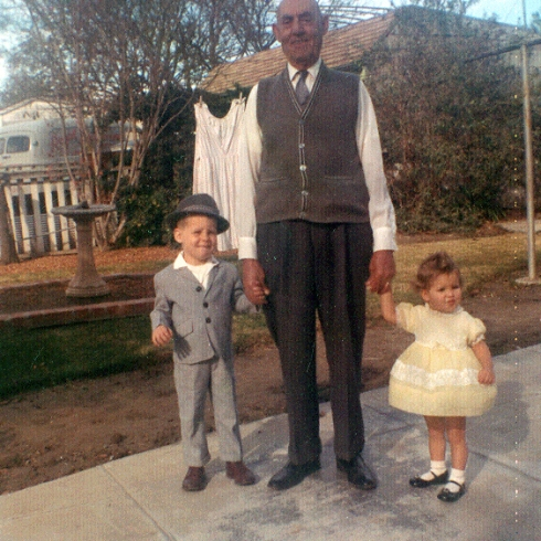 My brother Rocci, Great Grandpa Salvatore and Little Ol' Me