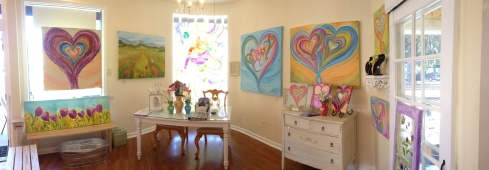 Debbie's Heartworks Gallery in Historic Downtown Campbell