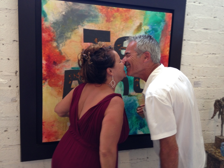 The Heart Artist Debbie and Steve Arambula discover The Heart Artist of Cabo on 35th Wedding Anniversary