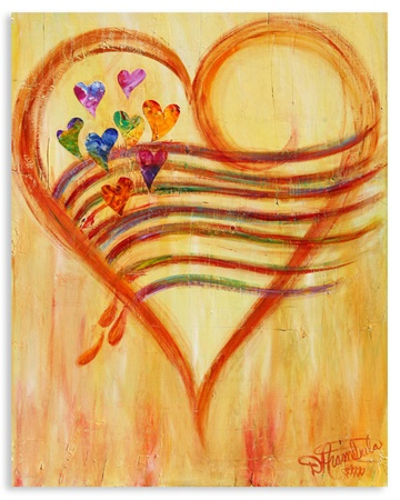 Rememberance Heart Art by debbie arambula