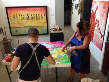 Debbie Arambula and Ivan Guaderrama Paint together for the first time