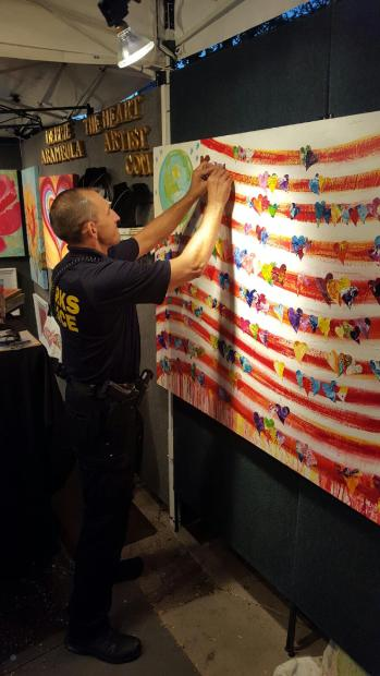 Police participating in Living the Dream Art