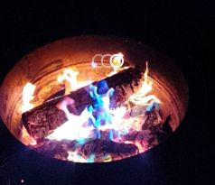 Rainbow campfire