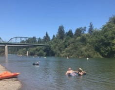 Russian River floating