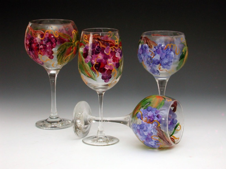 Hand-painted Wines Glasses
